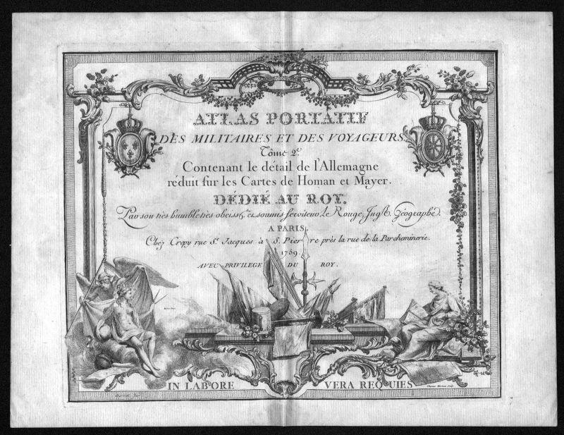 1759 Titel title Titelblatt Atlas Kupferstich antique print Le Rouge