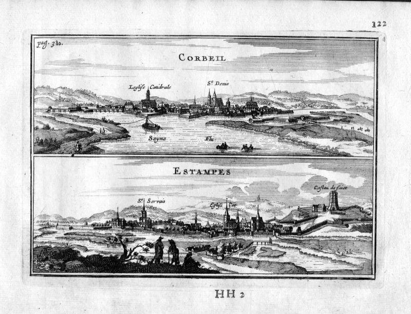 1666 Corbeil-Essonnes Estampes Paris Frankreich France gravure estampe