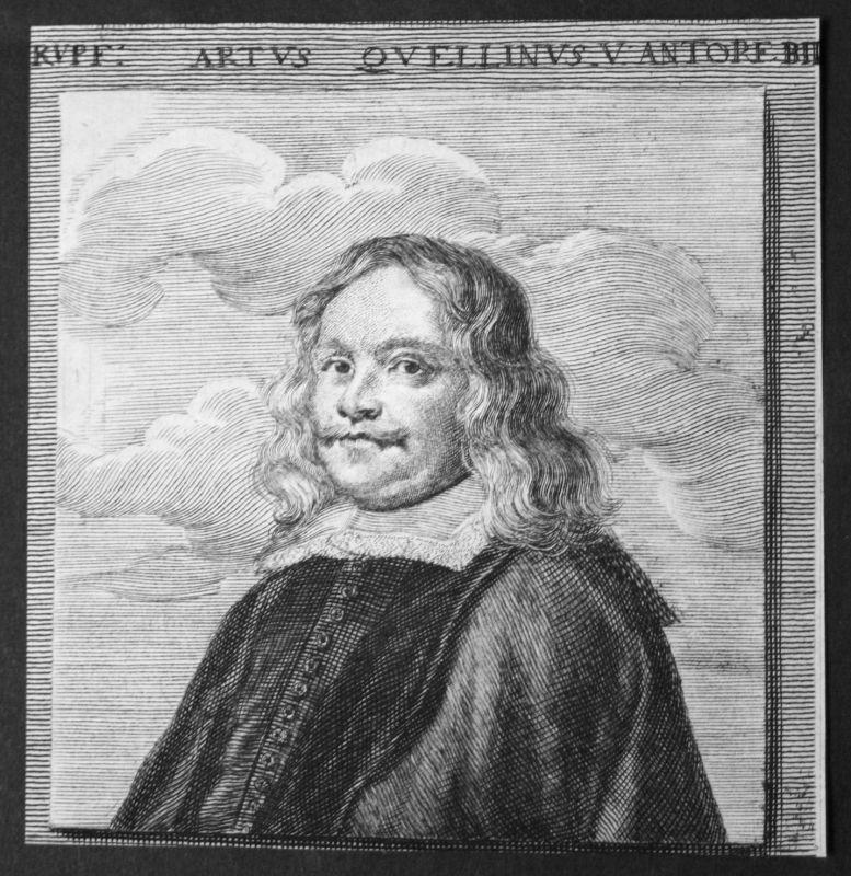1700 Artus Quellinus Bildhauer sculptor Antwerpen Kupferstich etching Portrait