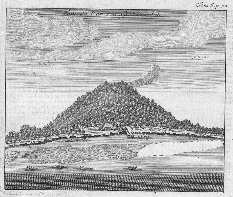 1700 - Ternate Maluku Islands Indonesia Kupferstich engraving map gravure