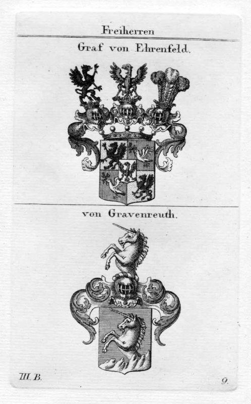 Graf von Ehrenfeld / von Gravenreuth / Bayern - Wappen coat of arms Heraldik her