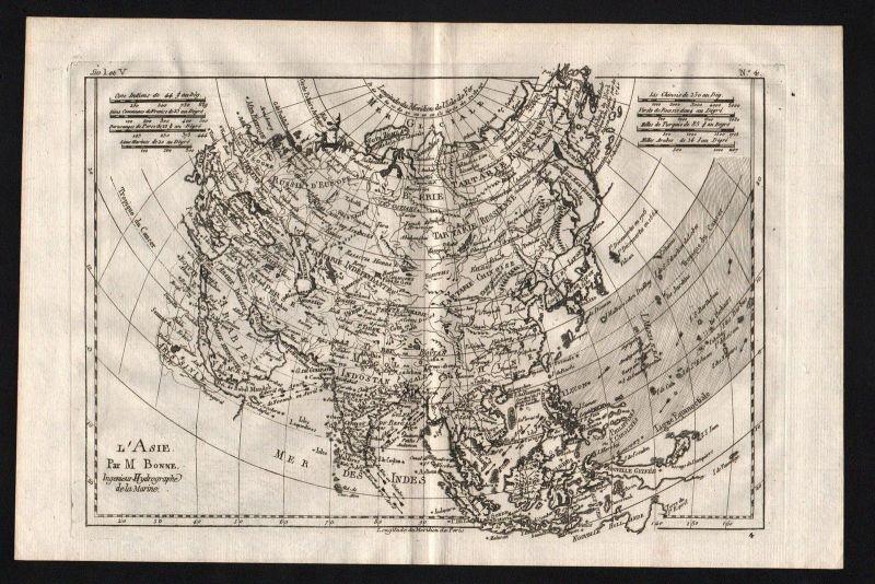 1780 - Asien Asia continent Kontinent map Karte Kupferstich engraving