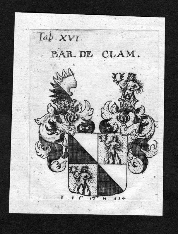 1750 - Clam-Martinic Clam-Martinitz Wappen Adel coat of arms heraldry Heraldik