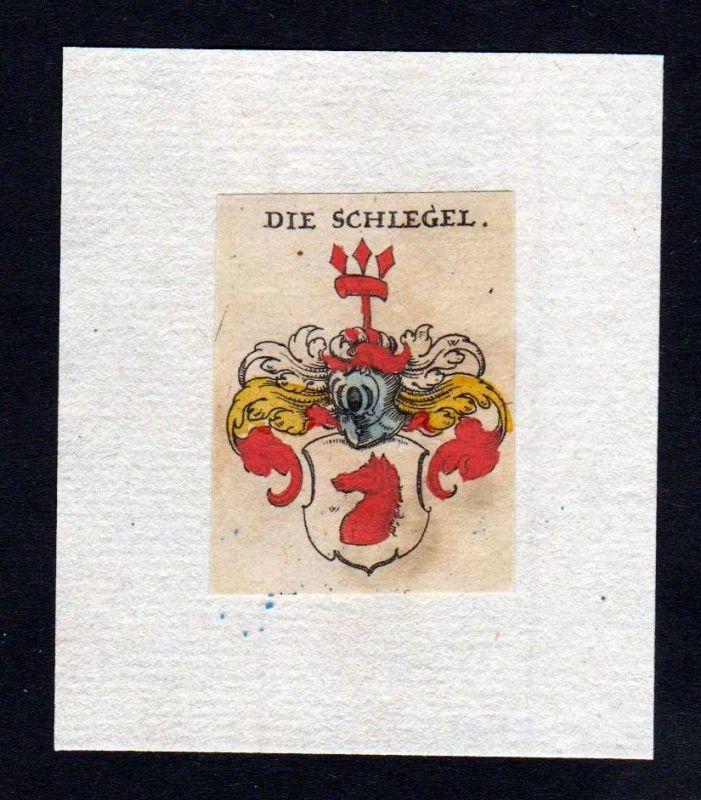 17. Jh Schlegel Wappen coat of arms heraldry Heraldik Kupferstich