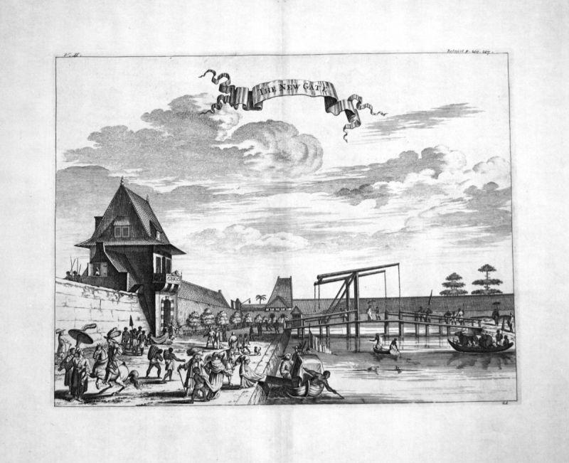 1730 Batavia Jakarta Java Indonesia Kupferstich engraving Churchill 108663