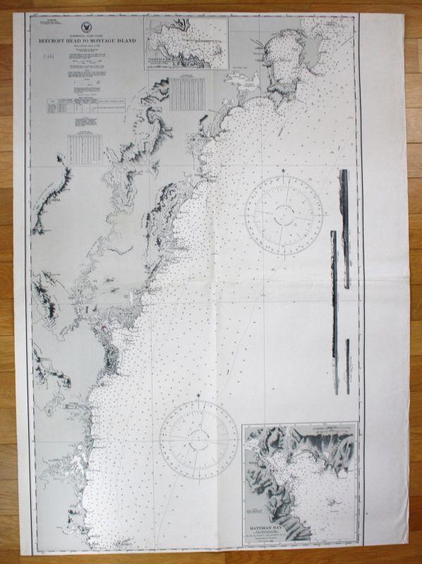 1940 Australia - East Coast - Beecroft Head to Montagu Island Australien map