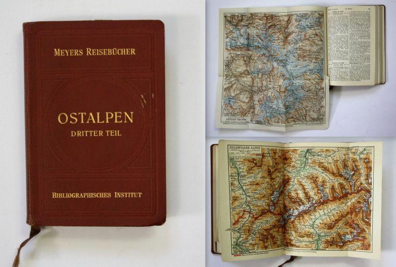 Ostalpen Südtirol Gardasee Dolomiten 1927 Reiseführer Reise Italien Tirol