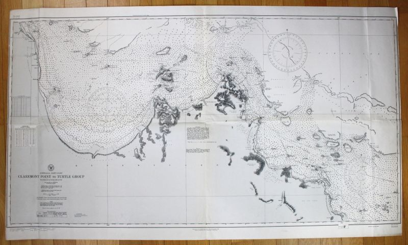 1944 Australia - East Coast - Claremont Point to Turtle Group Australien map