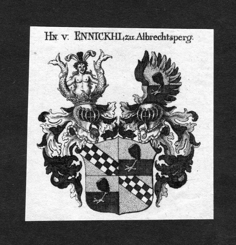 1820 - Ennickhl zu Albrechtsperg Wappen Adel coat of arms heraldry Heraldik