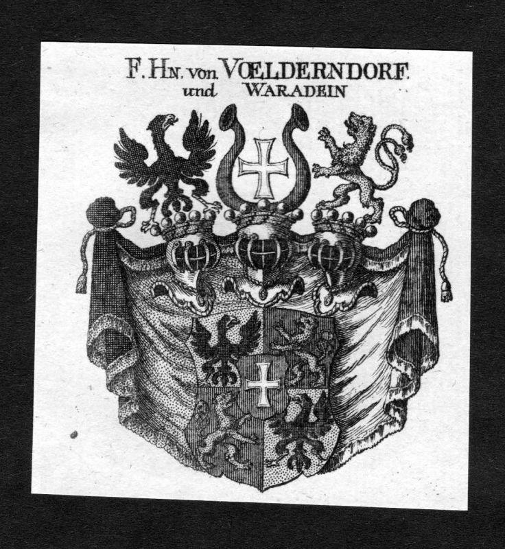 1820 - Voelderndorff Völderndorff und Waradein Wappen Adel coat of arms Heraldik