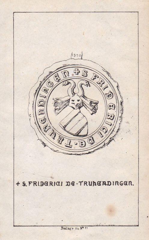 Truhendingen Franken Franconia Schwaben Swabia Wappen Heraldik coat of arms Adel
