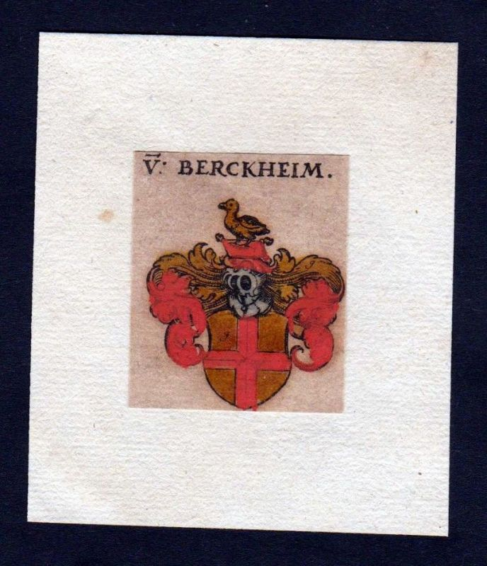 Berckheim 17. Jh Wappen coat of arms heraldry Heraldik Kupferstich