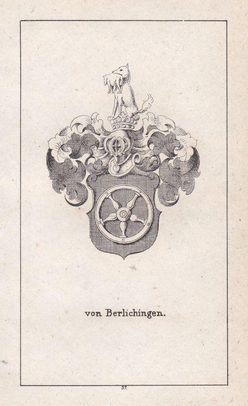 1840 Berlichingen Franken Franconia Wappen heraldry Heraldik coat of arms Adel