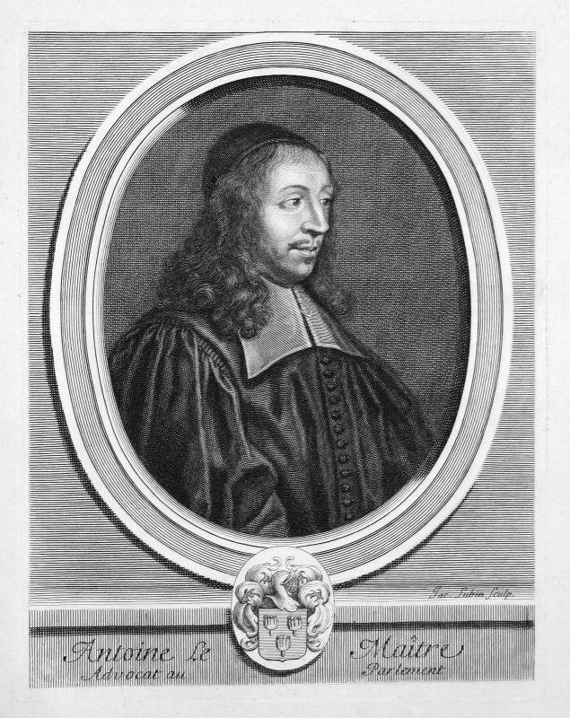Antoine Le Maistre Rechtsanwalt lawyer avocat Portrait Kupferstich engraving