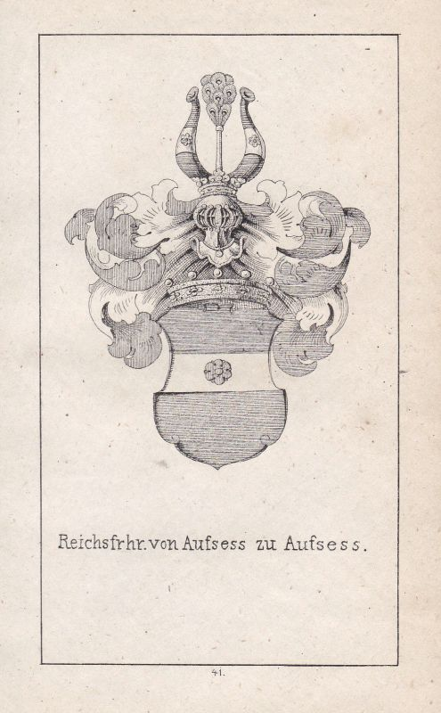 Aufsess Aufseß Bayreuth Franken Franconia Wappen Heraldik coat of arms Adel