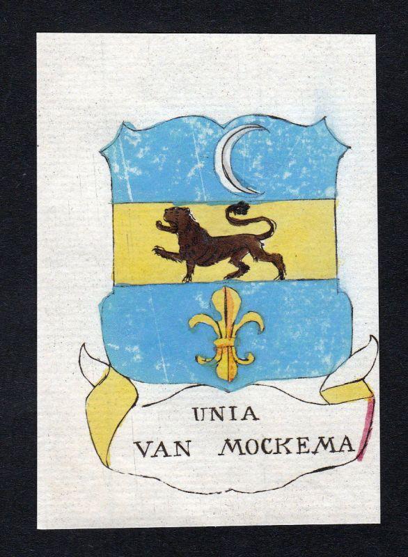 1800 Unia Mockema Niederlande Wappen Adel coat of arms Kupferstich engraving