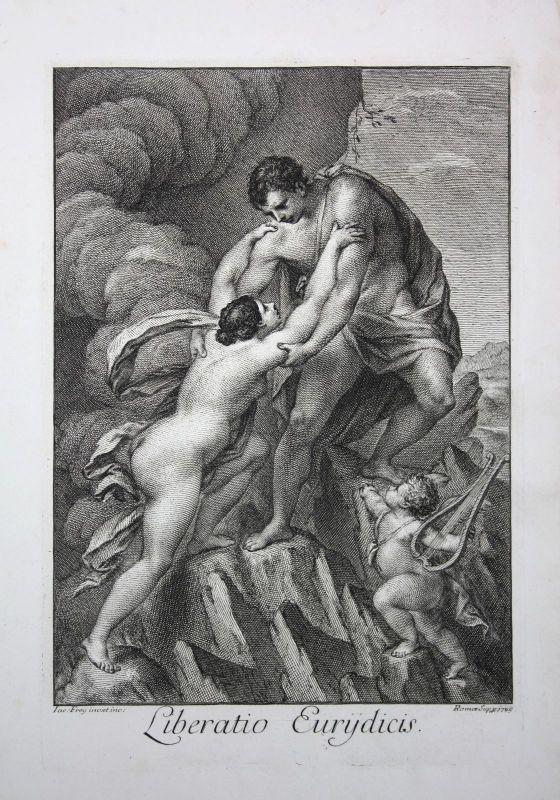 1749 Eurydice Eurydike Roman Mythologie mythology Kupferstich engraving Frey