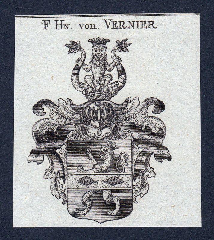 1820 Vernier Wappen Adel coat of arms heraldry Heraldik Kupferstich engraving