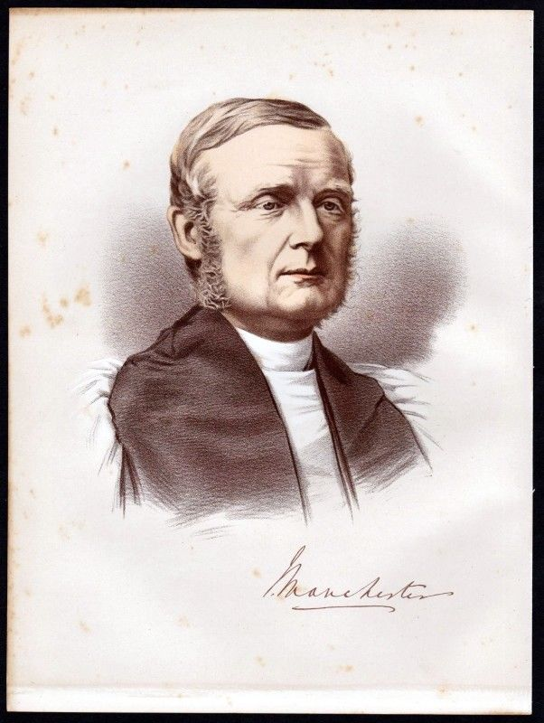 James Prince Lee (1804-1869) Bischof - Lithographie Portrait