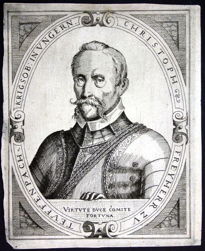 Ca. 1650 Christoph Freiherr zu Teuffenbach Tieffenbach Portrait Kupferstich