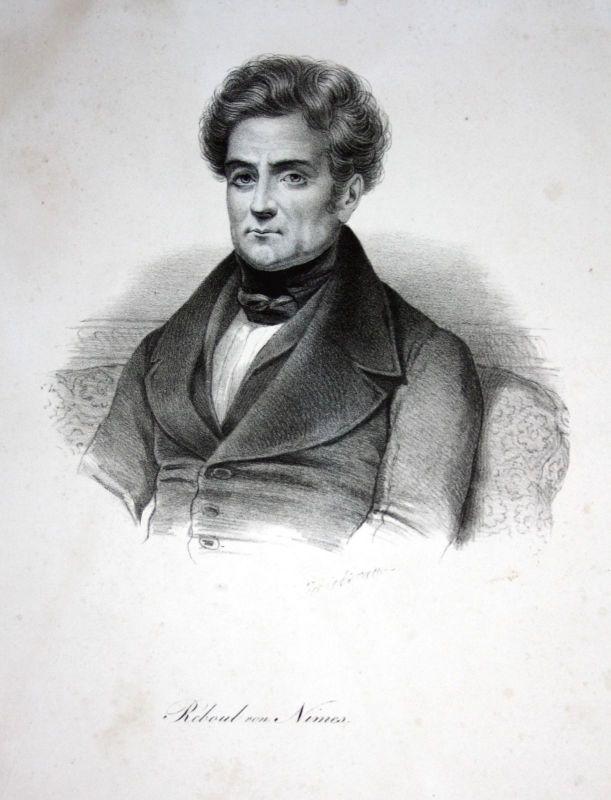 Ca. 1830 Jean Reboul Frankreich Nimes Dichter poet Lithographie Litho Portrait