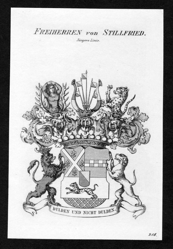 Ca. 1820 Stillfried-Rattonitz Wappen Adel coat of arms Kupferstich antique print