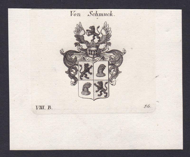 1820 Schmuck Wappen Adel coat of arms Heraldik Kupferstich antique print