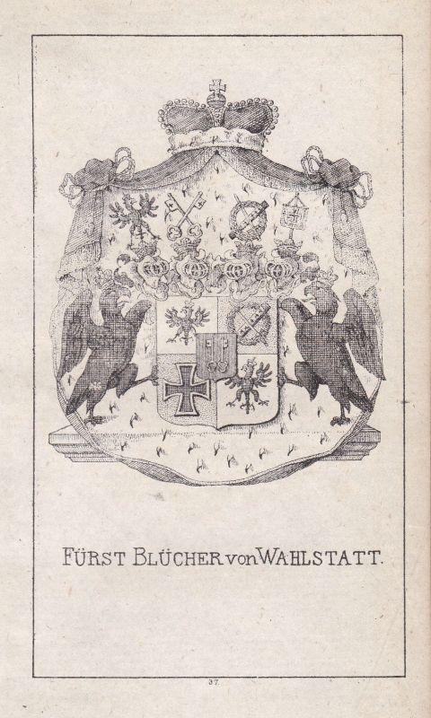 Ca. 1840 Blücher Mecklenburg Wappen heraldry Heraldik coat of arms Adel