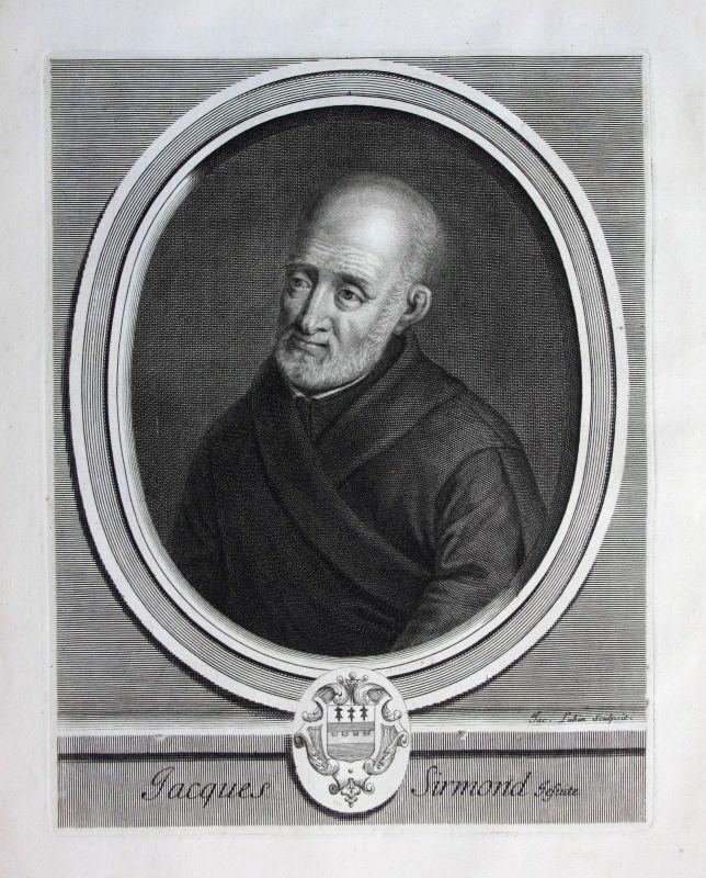 Ca. 1700 Jacques Sirmond Jesuit jesuite Historiker historien patrologue Portrait