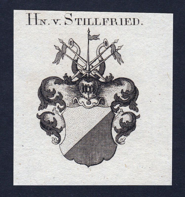 Ca. 1820 Stillfried Rattonitz Wappen Adel coat of arms Kupferstich antique print 0