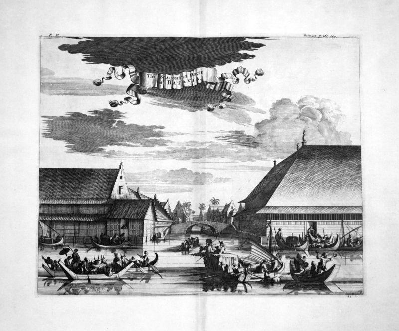 1730 Batavia Jakarta Java Indonesia Kupferstich engraving Churchill 108665