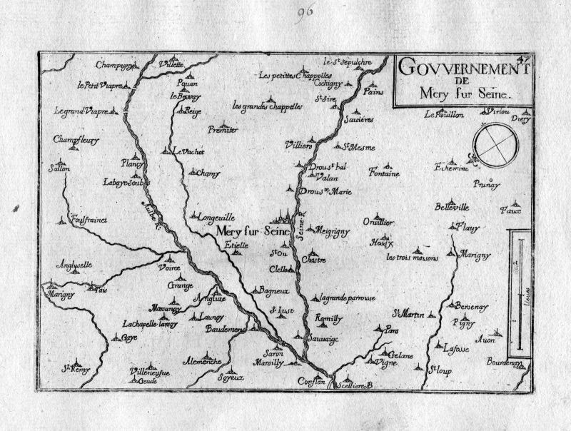 Ca. 1630 Mery-sur-Seine Aube Champagne-Ardenne Frankreich France Tassin