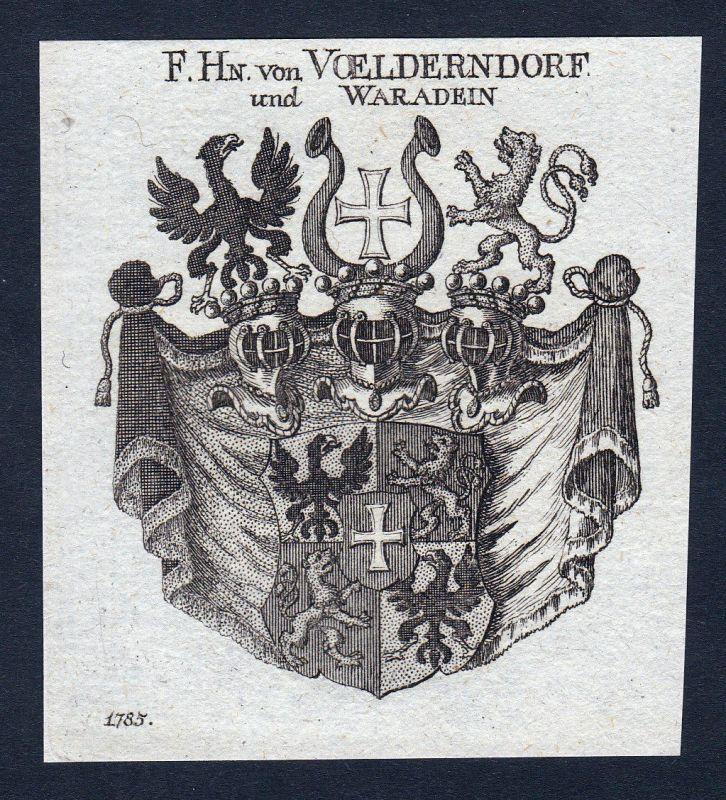 Voelderndorf Völderndorff Waradein Wappen coat of arms Kupferstich engraving