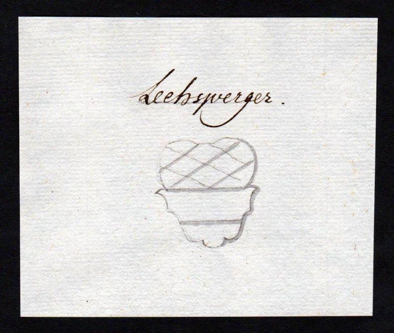 18. Jh. Lechsberger Handschrift Manuskript Wappen manuscript coat of arms