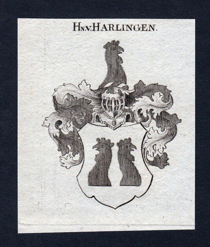 1820 Harlingen Niederlande Wappen Adel coat of arms Kupferstich engraving