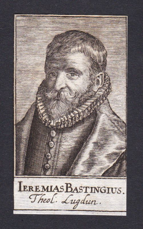 1680 Jeremias Bastingius / theologian Theologe Leiden Portrait Kupferstich