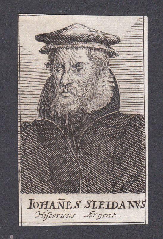 17. Jh. - Johannes Sleidanus / historian Jurist Schleiden Portrait Kupferstich
