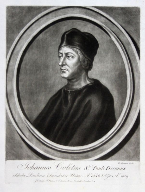 1759 Richard Houston Johannes Coler Portrait Aquatinta mezzotint Pfarrer