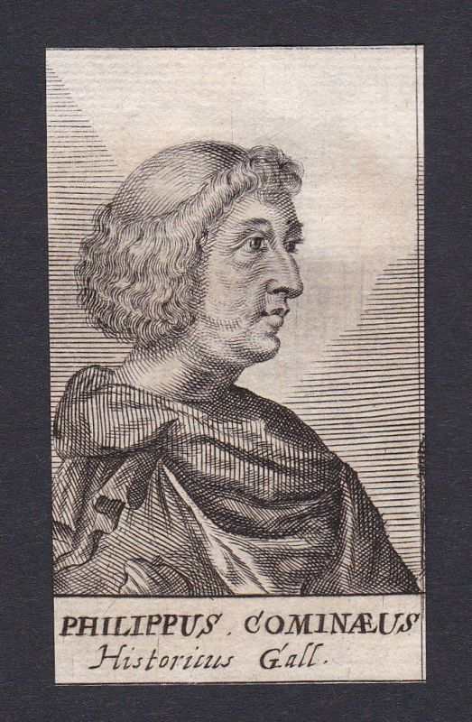 17. Jh. Philippe de Commines / diplomat Historiker Flandres Portrait Kupferstich