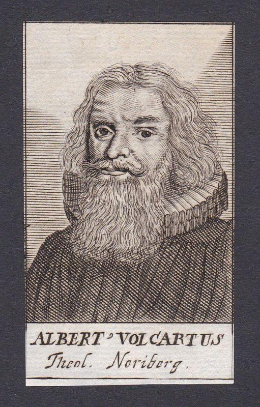 17. Jh. Albrecht Volcart / theologian Theologe Nürnberg Portrait Kupferstich