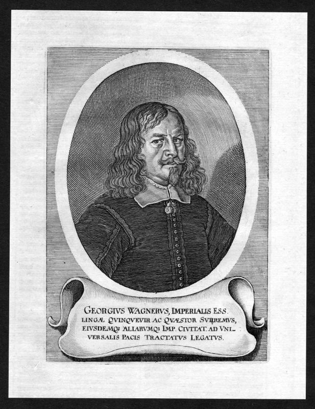 17. Jh. Georg Friedrich Wagner Jurist lawyer Portrait Kupferstich antique print