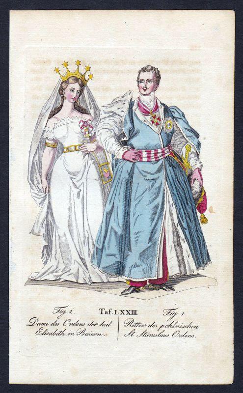 Ca. 1820 Order Swietego Stanislawa Polska Ritterorden Orden antique print