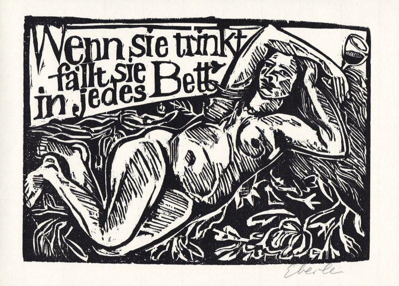 1998 Klaus Eberlein Bertolt Brecht Holzschnitt Gedichte über die Liebe si 136140