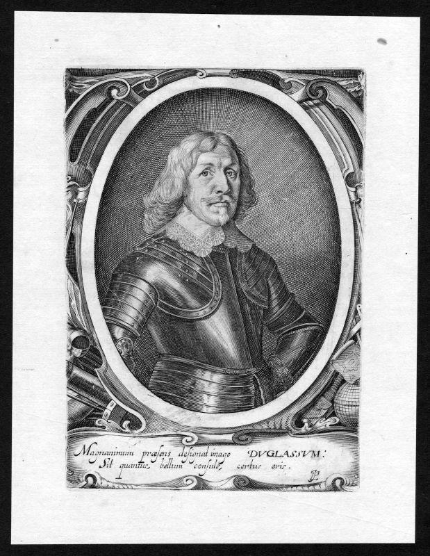 17. Jh. Robert Douglas Count of Skenninge Portrait Kupferstich antique pr 139330