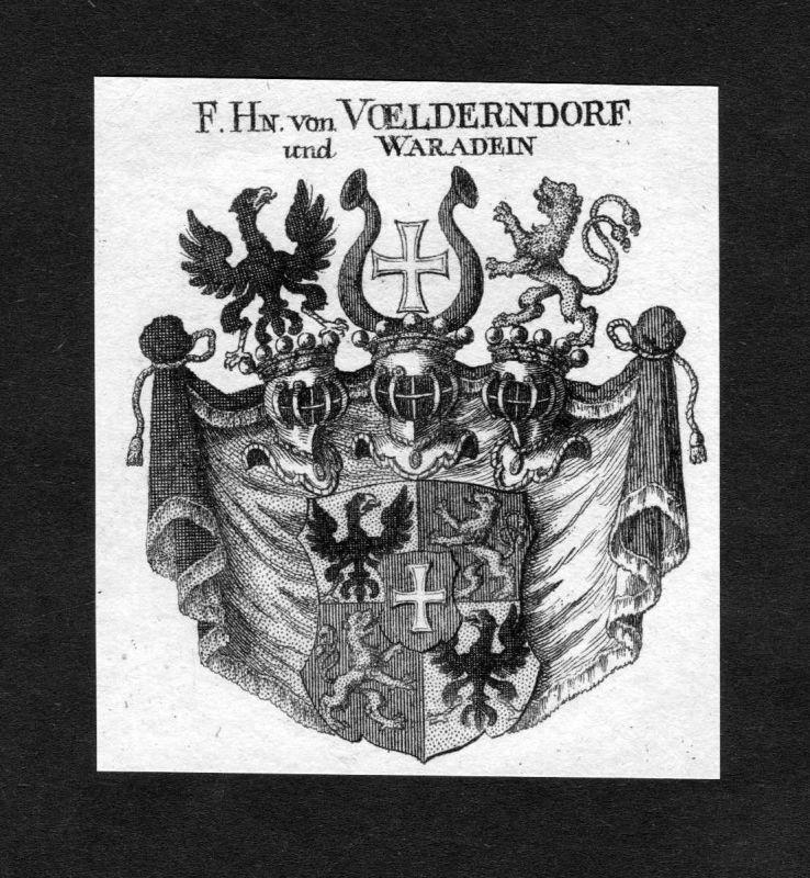 1820 - Voelderndorf Waradein Wappen Adel coat of arms heraldry Heraldik