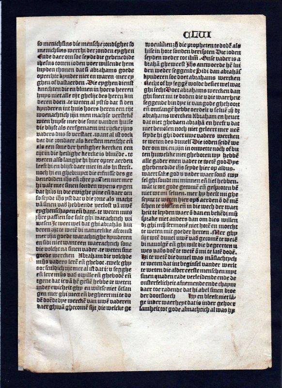 1499 Blatt CLVI Inkunabel Vita Christi Zwolle incunable Dutch Holland