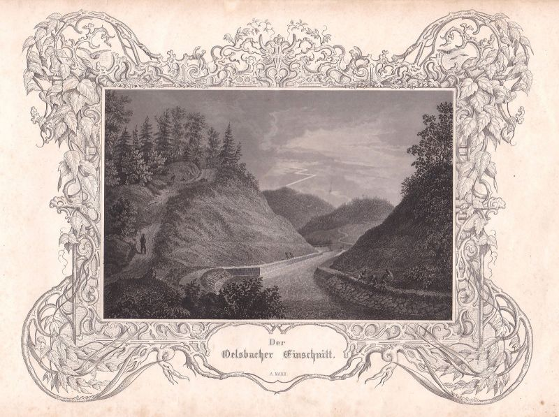 Oberölsbach Velburg Ludwig-Donau-Main-Kanal Marx Stahlstich antique print