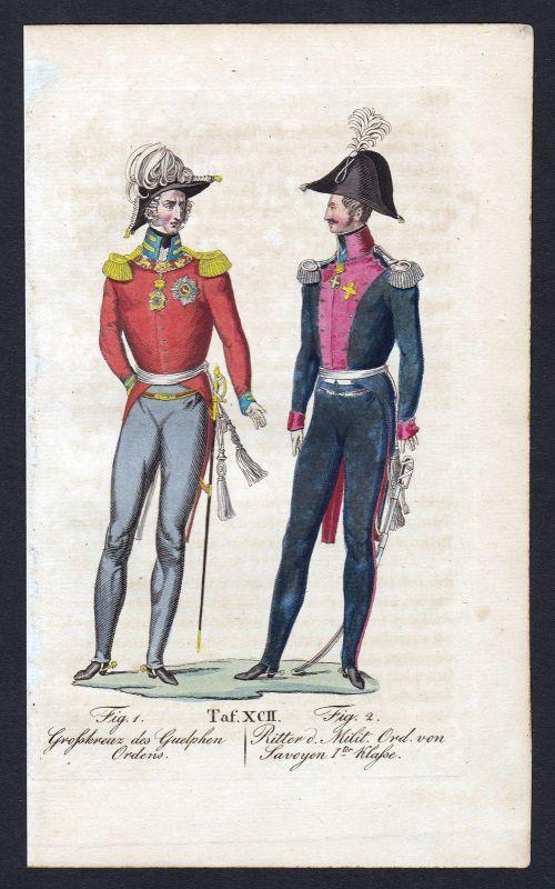 Guelphen-Orden Ordine Militare d'Italia Ritterorden Orden antique print stampa