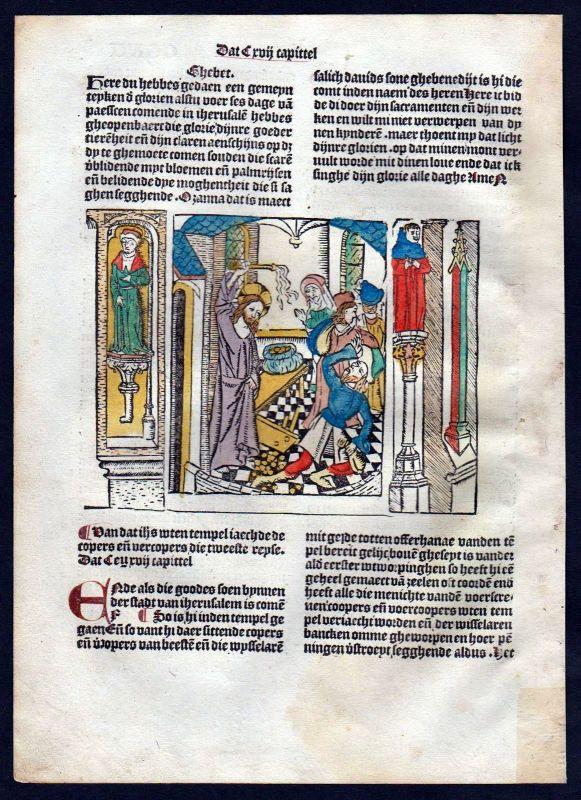1499 Blatt CCXV Inkunabel Vita Christi Zwolle Holzschnitt woodcut incunable