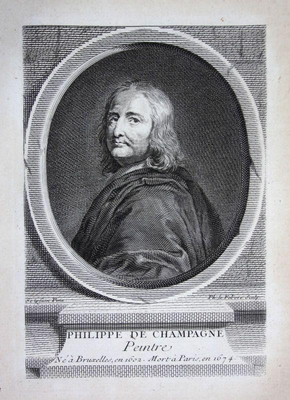 18. Jh Philippe de Champaigne Maler painter peintre gravure Kupferstich Portrait